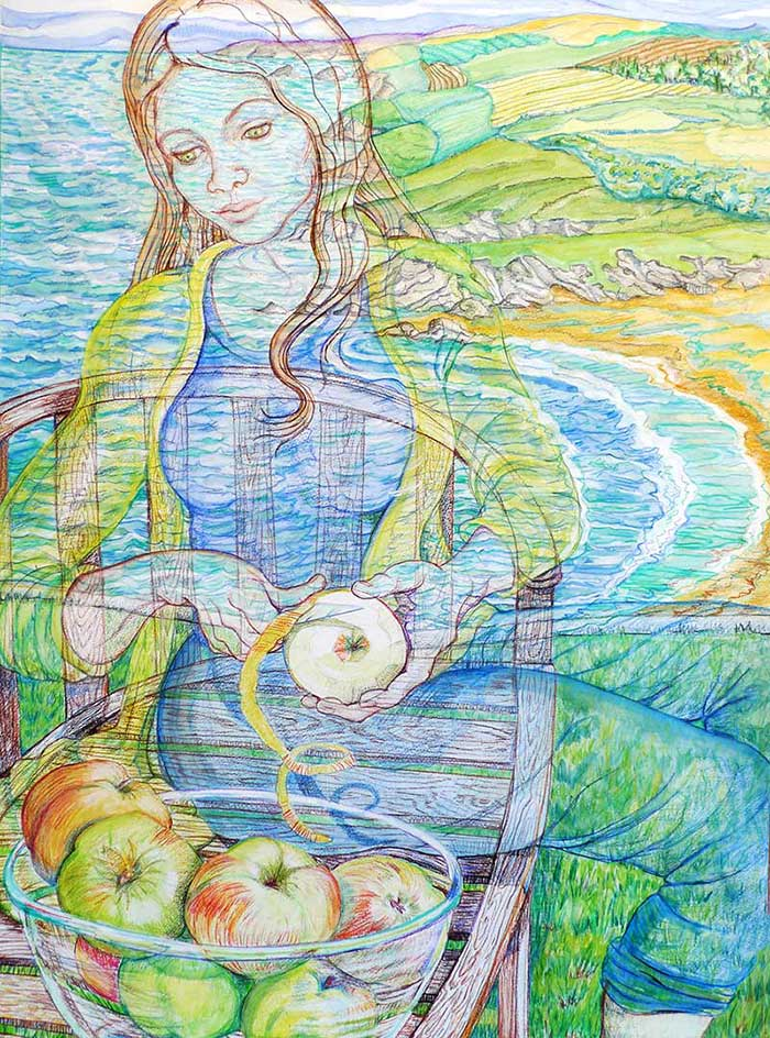 A Woman Peeling Apples - The Earth Turning
